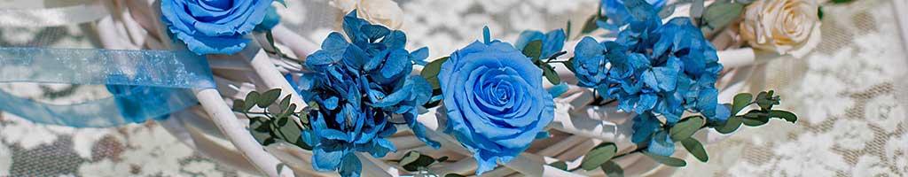 свадебное украшение из стабилизированных цветов