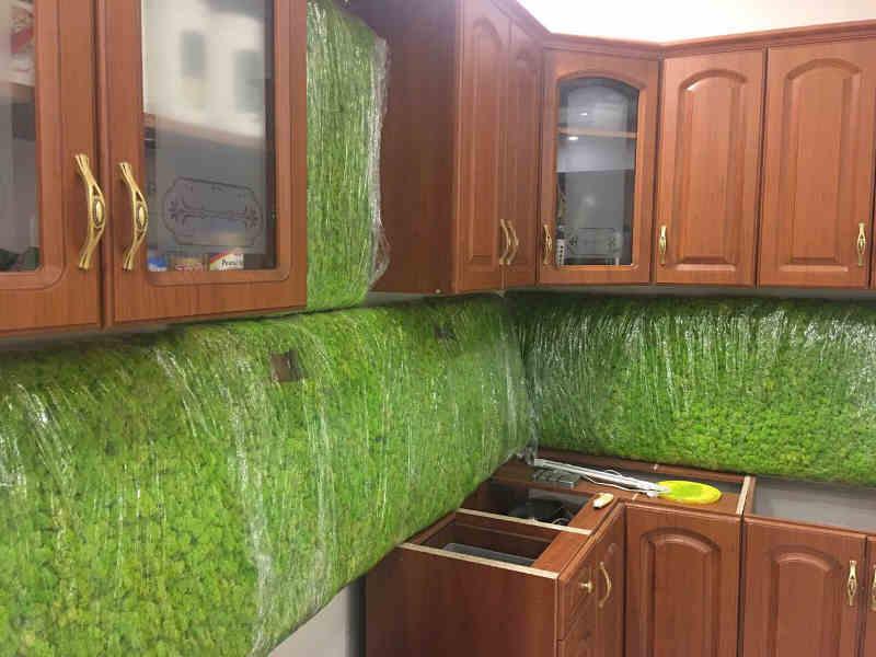 Декорирование ягелем на кухне городской квартиры